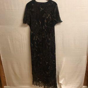 Womens Lane Bryant Silk Maxi Black Dress Size 26